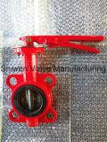 Válvula Borboleta Wafer vermelho para proteção contra incêndio com Certificado ISO
