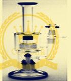 Tubulação de água de fumo de vidro da segurança do fabricante de China e da bolha arrebatada rápida da taça da entrega
