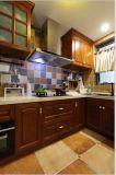 Os gabinetes de cozinha de madeira naturais Finished contínuos dirigem a mobília #2012-102