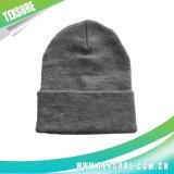 灰色カラーアクリルは平手打ちした昇進の編まれた冬の帽子の帽子(039)を