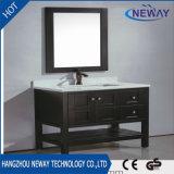 Cabinet de toilette de salle de bain en bois noir de grande qualité