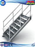 低価格の鉄骨構造のプラットホーム階段(FLM-SP-005)