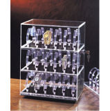 De duidelijke AcrylDoos van de Vertoning van het Geval van de Opslag van het Horloge btr-F1065