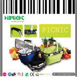 Cestino di acquisto piegante di picnic del poliestere