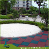 Telha de assoalho de borracha da proteção ambiental da alta qualidade para o jardim