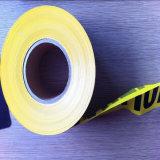 100%年のバージンのPEの警告テープ赤くおよび黒い障壁テープ高いQuanlityの安全Cautiontape