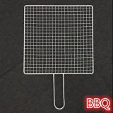 Портативное барбекю BBQ нержавеющей стали сетку корзины с ручкой металла