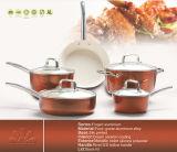 Горячая продажа 9PCS индуктивные нажат алюминиевых повредить антипригарное покрытие посуда для приготовления пищи,