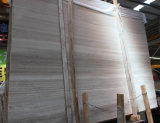 Marmo bianco di legno bianco Polished di Serpeggiante del marmo/indicatore luminoso del granulo della Cina