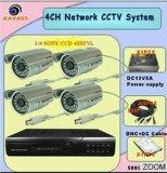 sistema impermeabile della macchina fotografica del CCTV di sicurezza del CCD IR di 4CH Sony (CLG-9204T)