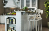 2017 neues Style Solid Wood Kitchen Cabinet Light Wood Kitchen Furniture (zq-023)