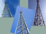 GSM autoportantes Telcom de tres patas de la torre de acero galvanizado tubular