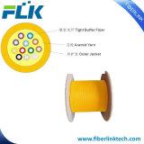 Cabo ótico interno GJFJV de fibra de amortecedor apertado da distribuição de FTTH