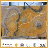 装飾が付いているバックライトのオレンジ黄色またはベージュ色オニックス