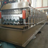 Het Dak van het Huis van het Staal van de kleur verglaasde het Dubbele Broodje van de Laag Vormt Machine in China