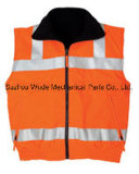 Uve017 poliéster Oxford PVC/PU Non-Breathable/PU respiráveis cubra pano reflexivo Vest Worksuit