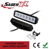 De 8 pulgadas resistente al agua 18W una sola fila de inundación de la barra de luz LED de trabajo para SUV/Jeep/ATV