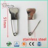 Jumbo 51mm Tête en acier inoxydable de métal chambre blanchisserie la goupille de sécurité