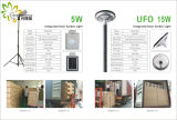 Preço de fábrica! ! O UFO 15W claro IP65, portátil integrou tudo em uma lâmpada solar do diodo emissor de luz, jardim ao ar livre/parede/pátio/caminho/estrada/luz do gramado
