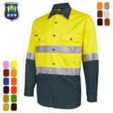 Manchon long travail de la sécurité d'usure des chemises réfléchissante