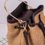 handbag Bucket 2018의 형식 밀짚 졸라매는 끈 숙녀 어깨에 매는 가방