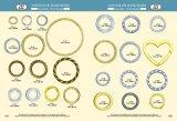 Grand joint circulaire de fer de taille personnalisé par vente en gros