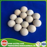 Bolas de cerámica del alúmina inerte de Al2O3 el 17~23% como soporte del catalizador