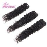 卸売価格100%のブラジル人のバージンのRemyの毛の拡張ボディ波/深く波/ジェリーのカール/Straight