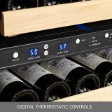 54 bouteilles conjuguent zone établie dans le réfrigérateur de vin rouge avec la crémaillère de roulement de glissement