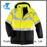 A segurança dos homens-pesado casaco Parka reflectora