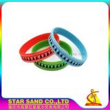 Braccialetti del silicone riempiti colore di promozione di compagnia statunitense di Debossed
