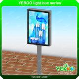 Carteles de publicidad al aire libre desplazamiento de caja de luz mupi