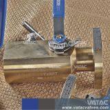 Flansch Rtj oder HF mit Doppelt-Block des Gewinde-Bsp oder DER NPT-Enden und Zapfluft-Kugelventil (Doppel- oder doppelte Kugel)