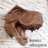 壁の装飾のレストランのDeco Animatronicの恐竜ヘッド