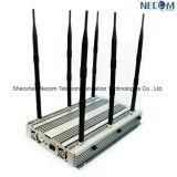 高い発電の携帯電話、WiFi、Lojack、GPSの妨害機またはブロッカー、静止した6bands 90Wの妨害機または携帯電話のシグナルのアイソレーター