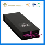 Rectángulo de regalo modificado para requisitos particulares del papel de imprenta de Cmyk (con el encierro de la cinta o del imán)