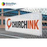 Windundurchlässige Vinylineinander greifen-Zaun-Fahne