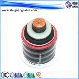 Cable de la corriente eléctrica de la envoltura del PVC