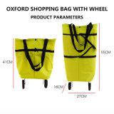 Oxford-faltbarer Tote-und Zug-Einkaufstasche mit Rad für Förderung