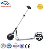 Roue deux pliant le scooter électrique de coup-de-pied avec la selle facultative