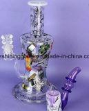 Bestes populäres Glas-rauchende Wasser-Rohre mit buntem Aufkleber