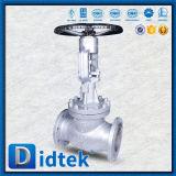 Didtekの手動ハンドルのステンレス鋼CF8mの地球弁