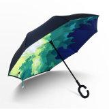 ゴルフ屋外車雨傘を、傘を広告するゴルフ広告する防風の傘逆にされた及び逆の傘は移動する