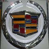 Logotipo acrílico de galvanização do carro do ABS do cromo do costume
