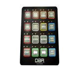 Выполненные на заказ 3m слипчивые водоустойчивые кнопочные панели экрана касания/переключатели мембраны клавиатур