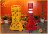 Barrière en plastique extensible jaune de route pour le contrôle de foule