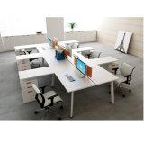 [إكس] شكل معدن إطار ساق مكتب طاولة مع جالب عودة خزانة