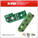 6 capas de 1 mm 2 oz de cobre verde máscara de soldadura de control Junta PCBA
