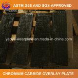 Plaque d'usure de soudure de carbure de chrome pour le câble d'alimentation vibratoire