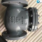 API 6D de fundición de acero atornillado cubrir totalmente abierto de no retorno de la brida Válvula de retención de disco oscilante